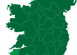 Clothes for Cash Map of Kerry and Cork
